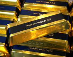 Gold Ingot of Swiss Chocolates