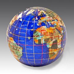 Gemstone Globe Paperweight