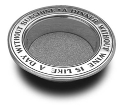 Pewter Wine Bottle Coaster